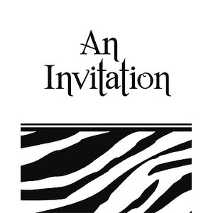 Animal Print - Zebra Invitation Fold 8 Pack