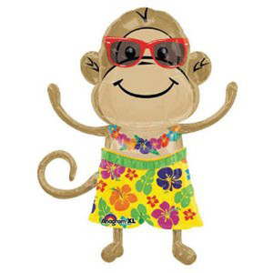 33 Inch Monkey Luau Boy Balloon