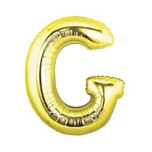 Megaloon Letter G Gold Balloon