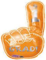 Grad Orange Hand Shape Balloon