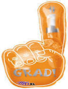 Grad Orange Hand Shape Balloon