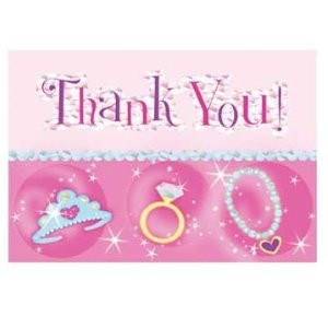 Princess Prismatic Thank You Notes