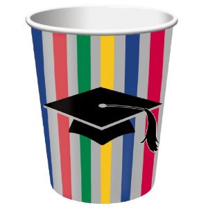Graduation Stripes 9 oz Hot/Cold Cup