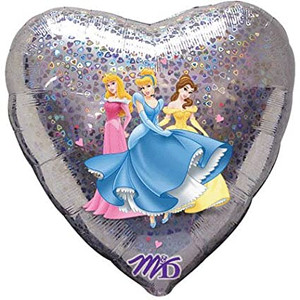 18 Inch Princesses Love Holographic Foil Balloon