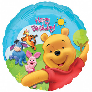 18 Inch Pooh & Friends Sunny Birthday Foil Balloon