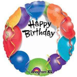 18 Inch Happy Birthday Personalise Foil Balloon