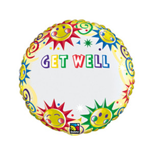 18 Inch Just Write Get Well Name Foil Balloon