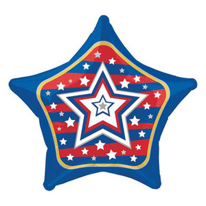 19 Inch United Star Patriotic Metallic Balloon