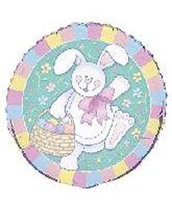 18 Inch Happy Easter Bunny Mylar Balloon