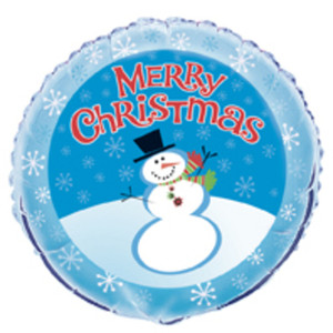 18 in. Stellar Snowman Foil Balloon