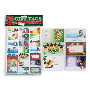 Christmas Holiday Sticker Gift Tags