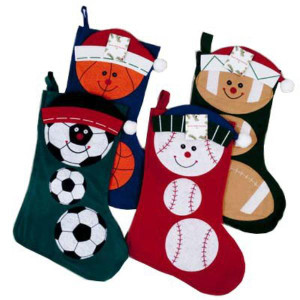 Sports Themed Christmas Stocking 18 in.