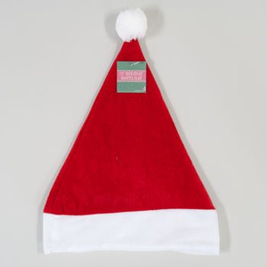 Red Velvet Santa Hat with White Cuff