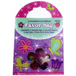 Shimmering Butterflies Favor Bag