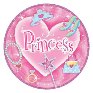Princess Prismatic Lunch Plates 8ct