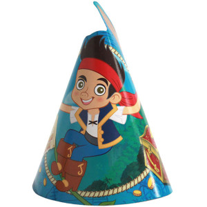 Jake Never Land Pirates Party Cone Hats