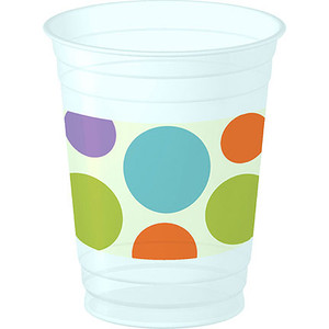 Baby Animal Dots 14 oz Plastic Cups