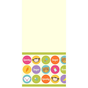 Baby Animal Dots Plastic Table Cover
