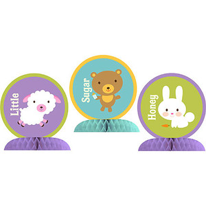 Baby Animal Dots Baby Shower Table Centerpiece Kit