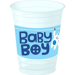 Cute as a Button Boy 14 oz Party Plastic Cup