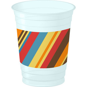 Striped Cake 14 oz Cups 8 Pack