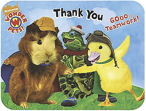 8 Wonder Pets Die-Cut Thank You Notes