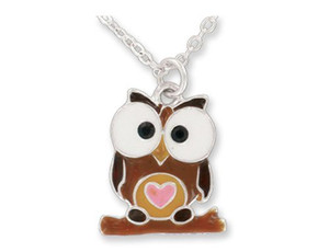 Owl Pendant Necklace in Gift Box