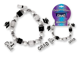 Congragulations Grad Stretch Charm Bracelet