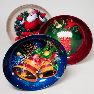 Deep Christmas Serving Bowl 14 in.