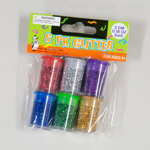 Glitter in Shaker Jars 6 Pack