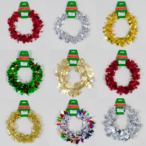 Christmas Patterned Wire Garland 25 ft