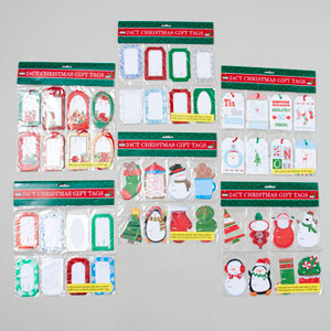 Glitter Christmas Gift Tags 24 ct
