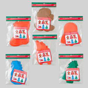Craft Shapes Christmas 8 ct Solid Colors and Assorted Styles