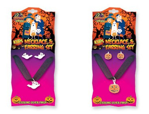 Halloween Childrens Necklace and Earring Set