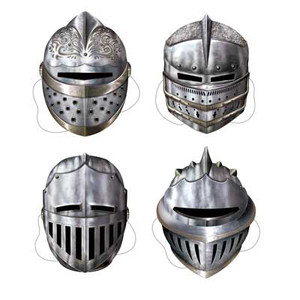 Medieval Knight Masks 4 Count