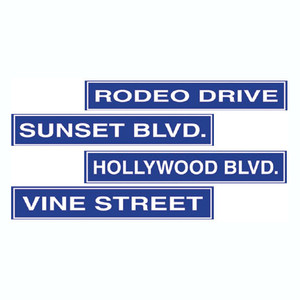 Hollywood Street Sign Cutouts
