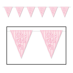 It is A Girl Pennant Banner