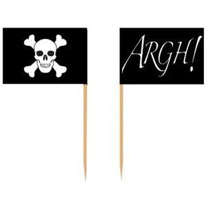 Pirate Flag Picks 50 Count