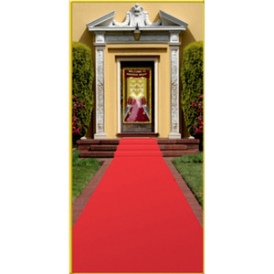 Red Polyester Carpet Runner