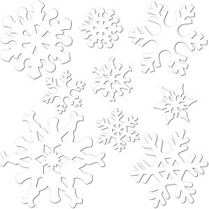 Snowflake Cutouts Assorted 9 Count