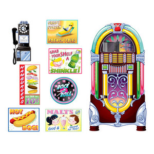 Soda Shop Signs and Jukebox Prop Sheet