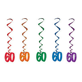 60 Whirls Assorted Colors 5 Count
