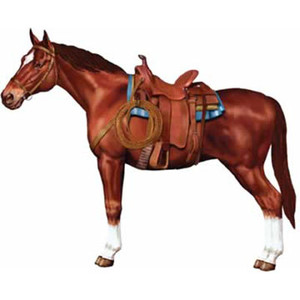 Jointed Horse Decoration 1 Count