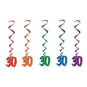 30 Whirls Assorted Colors 5 Count