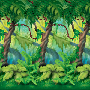 Jungle Trees Photo Backdrop