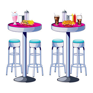 Soda Shop Tables and Stools Photo Props