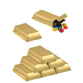 Foil Gold Bar Favor Boxes 12 Count