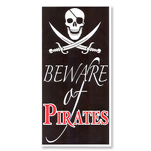 Beware Of Pirates Door Cover