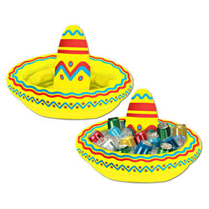 Inflatable Sombrero Cooler 1 Count
