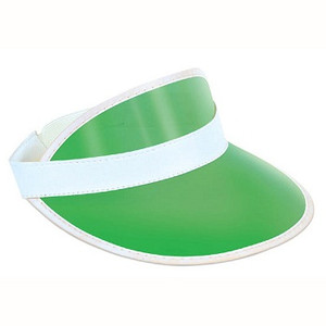 Clear Green Plastic Dealers Visor